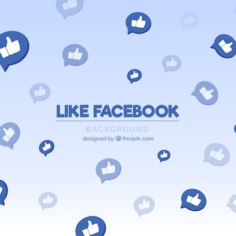 Facebook background with like icons