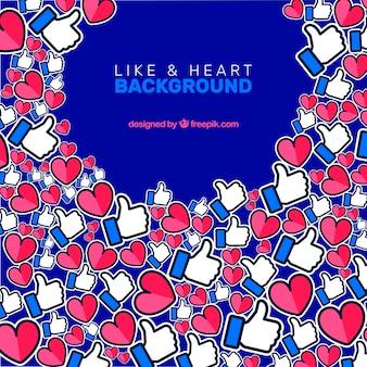 好きと心のfacebookの背景