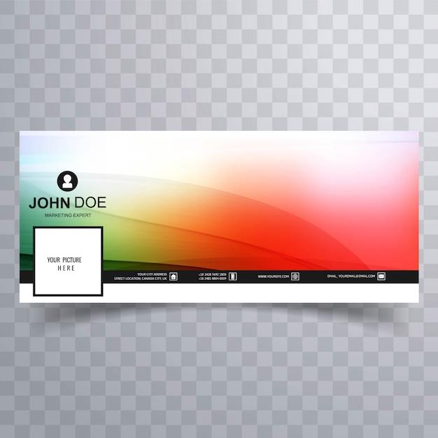 Facebook banner template colorful design