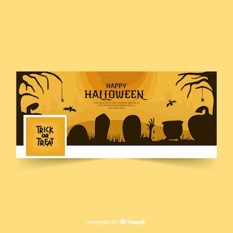 Facebook banner with halloween concept