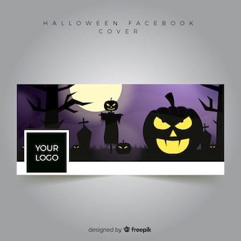Facebook-баннер с дизайном хэллоуина