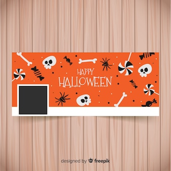 Facebook banner with halloween elements