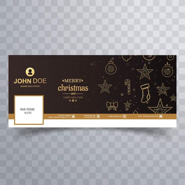 Веселая рождественская открытка с facebook banner