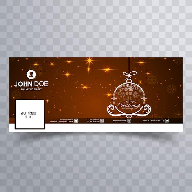 Счастливый рождественский бал с facebook banner