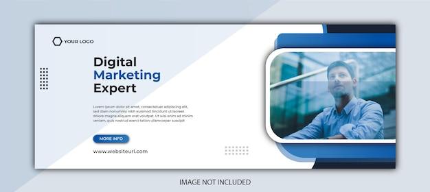 Обложка facebook и шаблон веб-баннера