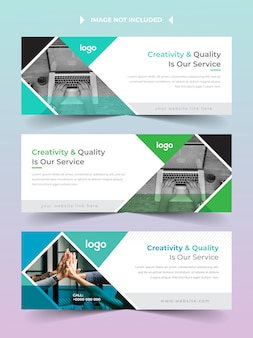 Facebook cover banner template