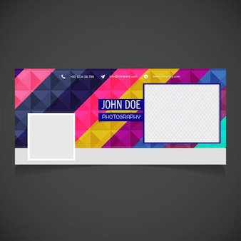 Facebook cover of geometric stripes