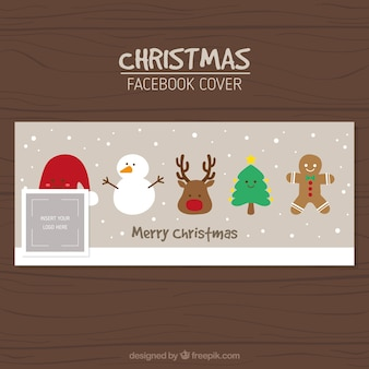 Facebook cover of nice christmas characters