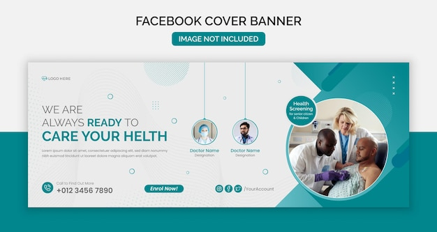 Facebook cover page medical or social media post template