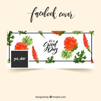 Copertina facebook di fiori piuttosto di acquerello