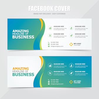 Facebook cover social banner ad template
