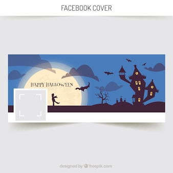 Facebook cover with castle