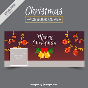 Copertina di facebook con la decorazione di natale