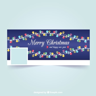 Facebook cover with christmas lights