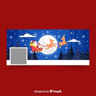 Рождественский дизайн facebook cover