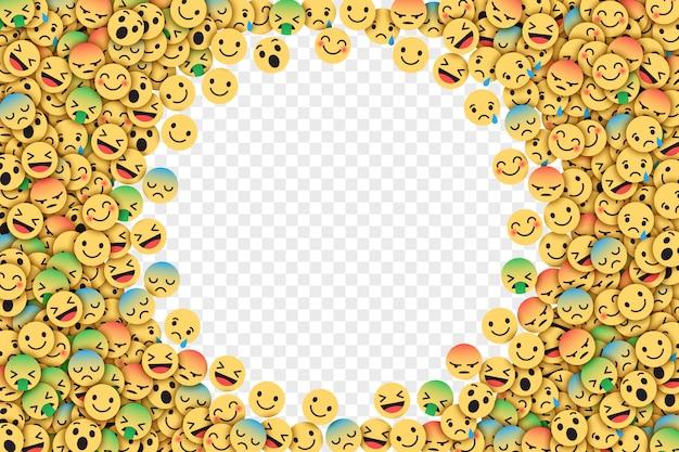 Вектор плоский facebook emoji иллюстрация