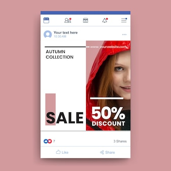 Facebook fashion sale template