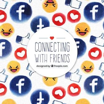 Facebook funny background