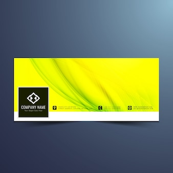 Facebook green cover with waves