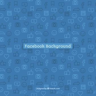 Facebook icon background