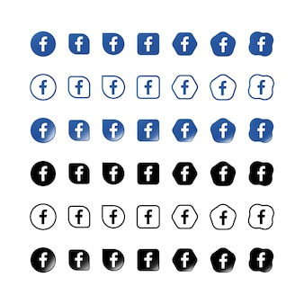 Facebook icons set