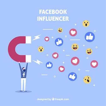 Facebook influencer background