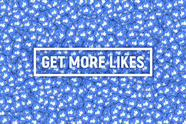 Facebook like icons abstract background
