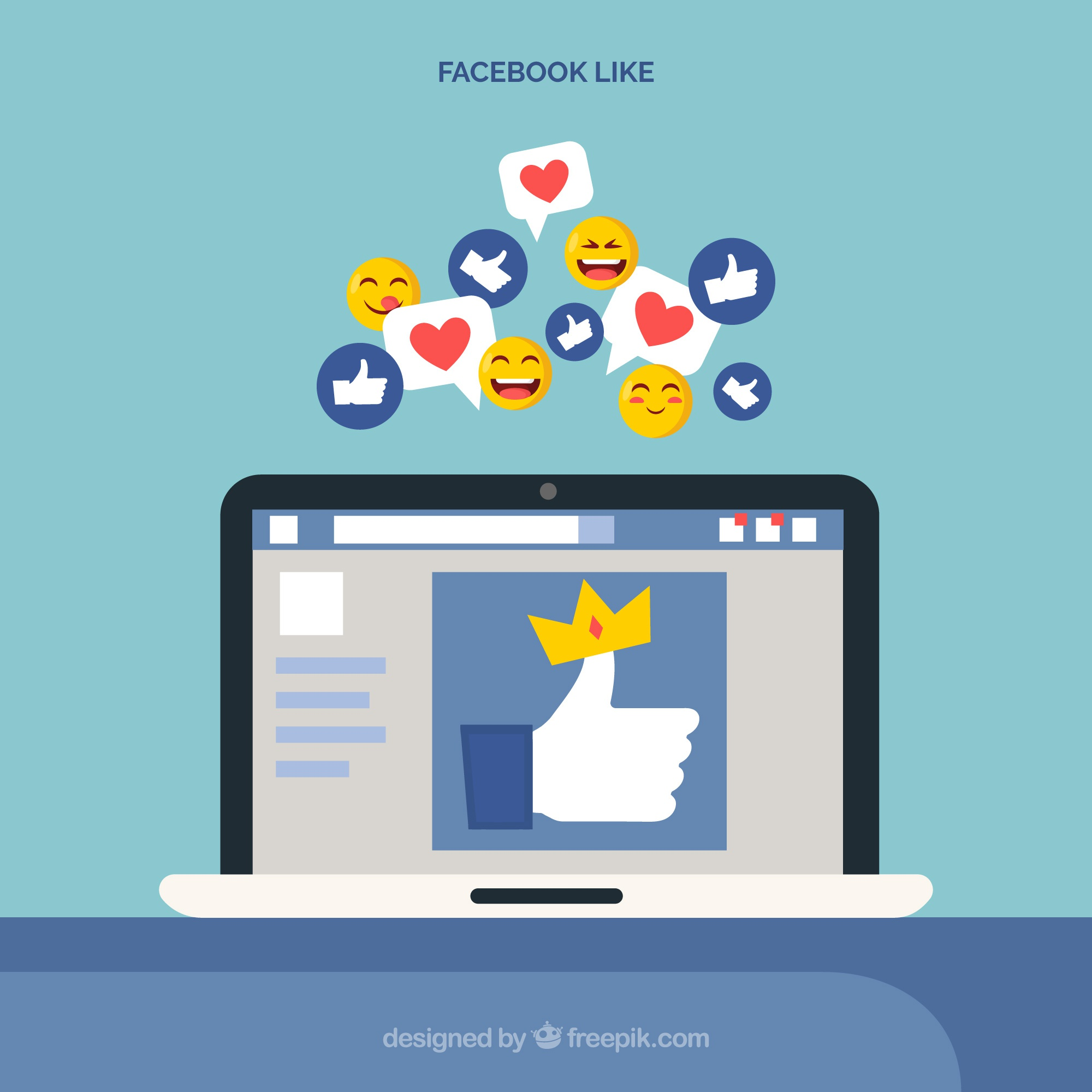 Facebook like with electronic device