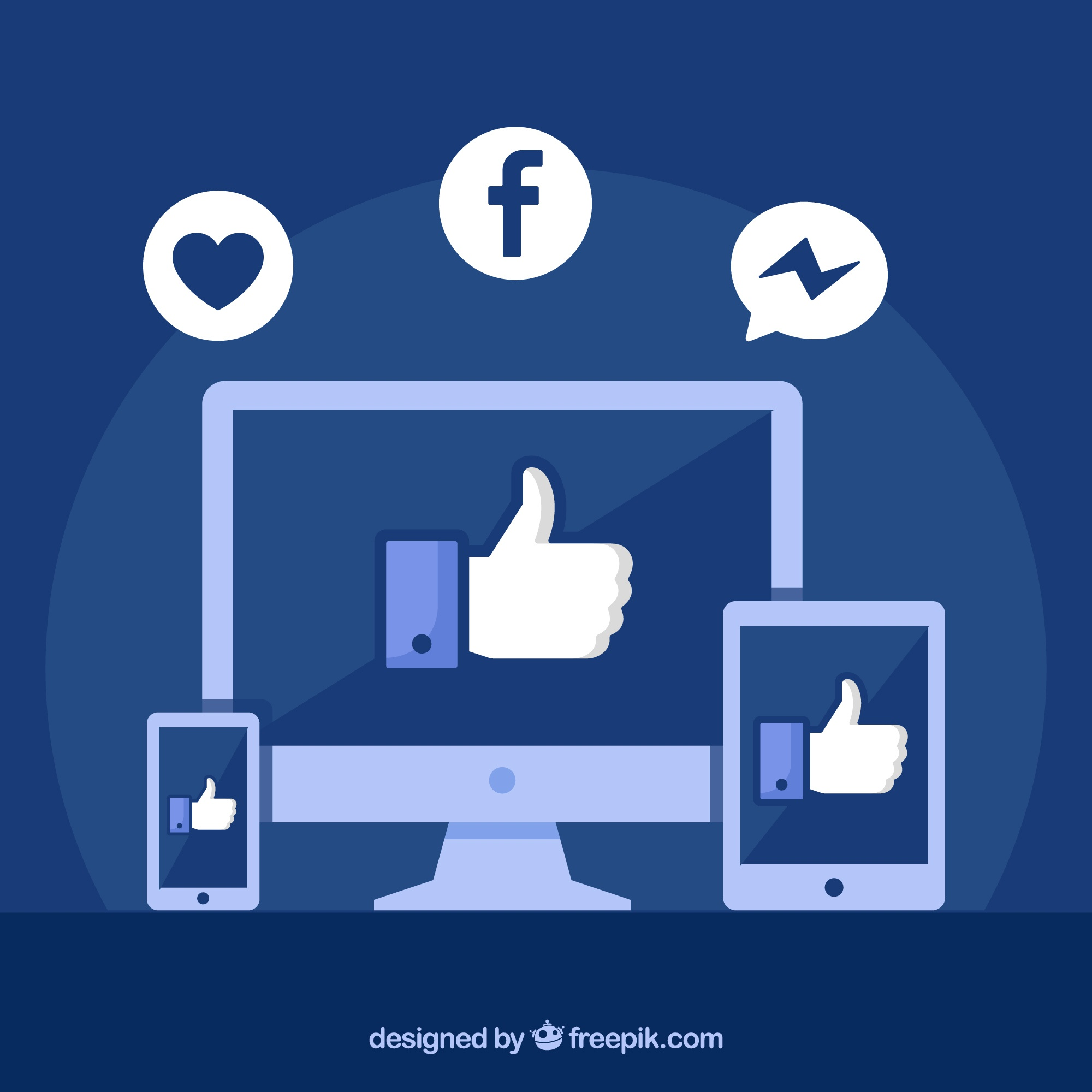 Facebook likes background