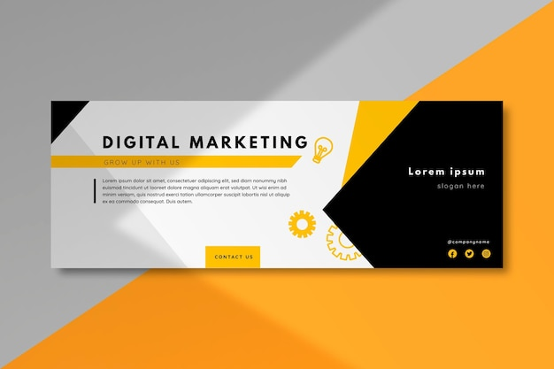 Facebook marketing cover template