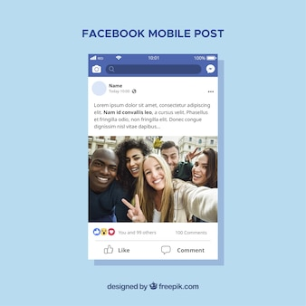 Facebook Post Vectors, Photos and PSD files | Free Download