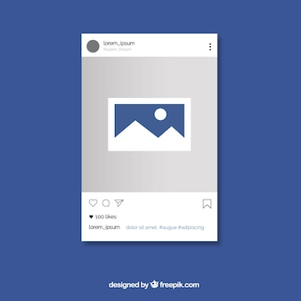 Facebook mobile post with flat design