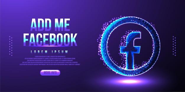 Facebook social media marketing background