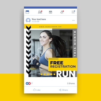 Facebook sport post template