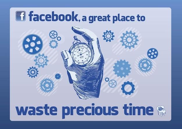 Facebook stopwatch drawing vector