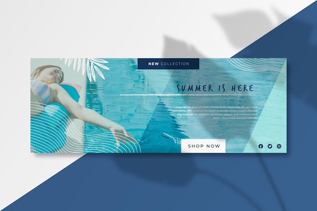 Facebook summer cover template