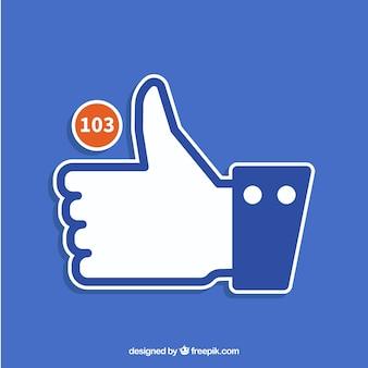 Facebookのサムスンアップ通知の背景