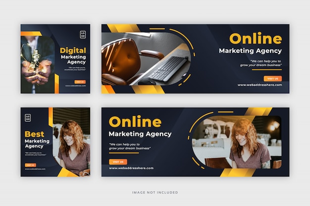企業のソーシャルメディアのfacebookカバー付きwebバナーを投稿します。