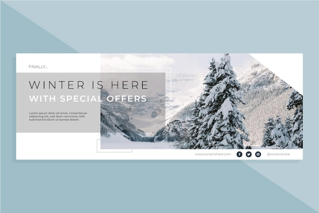 Facebook winter cover template