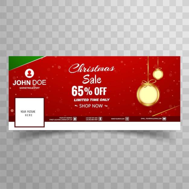 Веселая рождественская распродажа с шаблоном обложки facebook