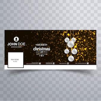 Веселый рождественский бал с дизайном баннера facebook