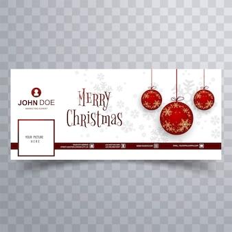 Счастливый рождественский бал facebook баннер шаблон фон