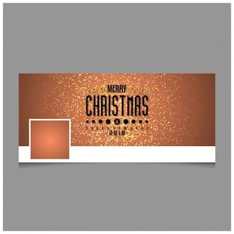 Рождественская обложка facebook, включая творческую типографику