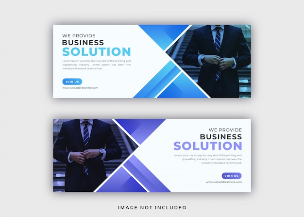 企業の抽象的なfacebookカバーテンプレート