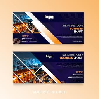 企業のfacebookのカバーデザイン