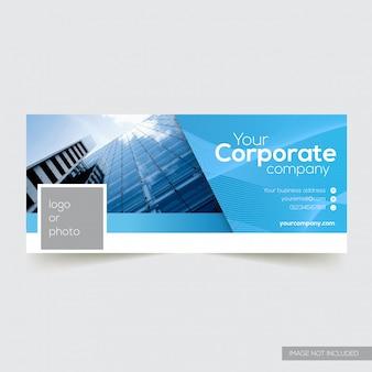 Корпоративный обложка facebook с абстрактным элементом линии