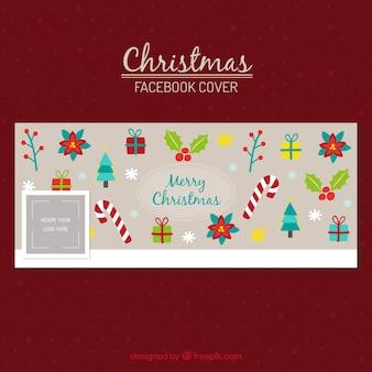 Декоративные рождественские обложки facebook