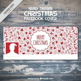 Facebook покрытия с рисованной объектов рождественские