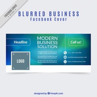 ビジネスぼやけたデザインのfacebookのカバー
