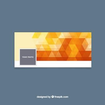 オレンジ色のトーンでfacebookのカバー